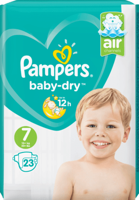 Pampers Baby Dry Taille 7