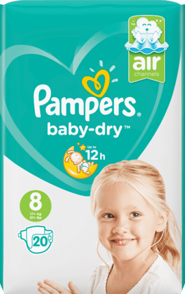 Pampers Baby Dry Taille 8